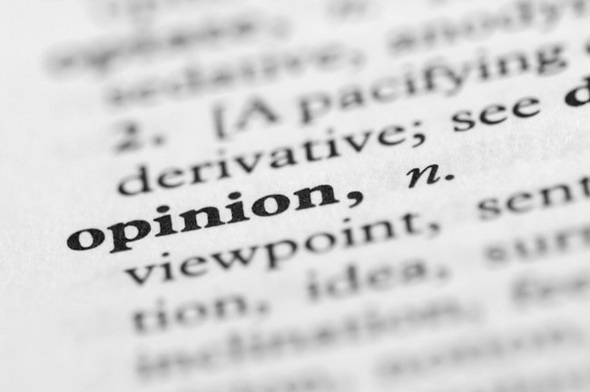 Opinion definition.