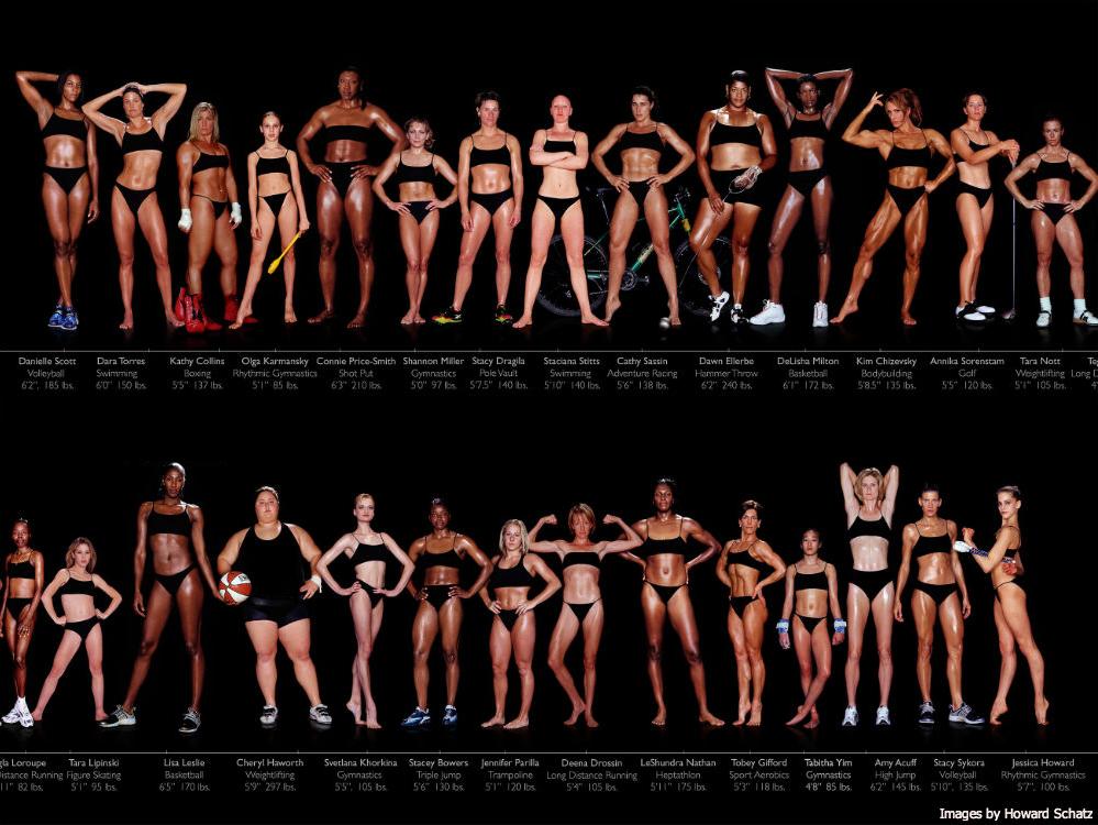 Images of female Olympians. Taken by Howard Schatz in 2002.