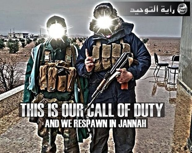 An ISIS recruitment poster.