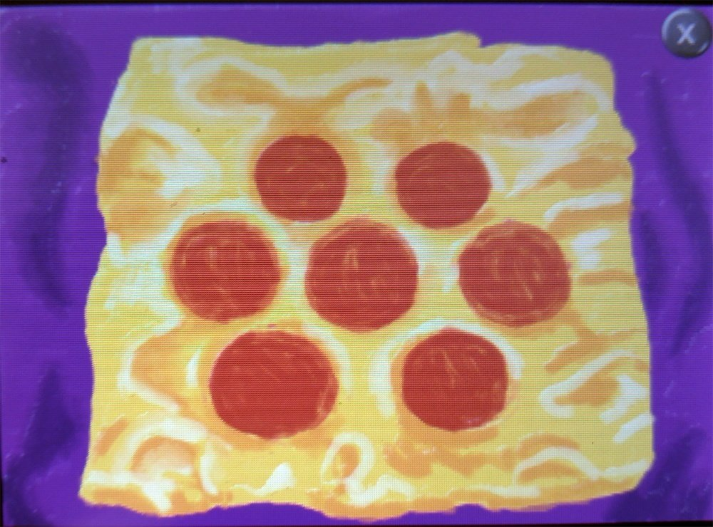 IT'S CHEESE... and pepperoni, with a side of wishes.