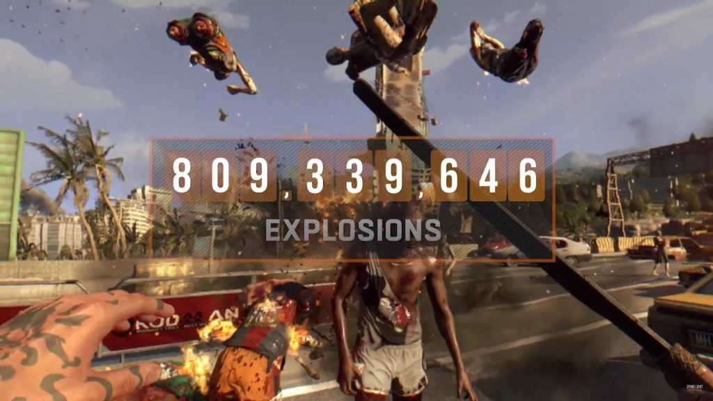 Explosions in Dying Light since the game's release.