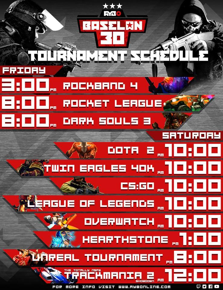 PC Tournament Schedule